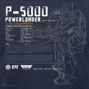 P-5000 Powerloader - Men's T-Shirt by American Apparel