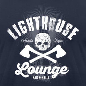 Lighthouse Lounge - Men's T-Shirt by American Apparel