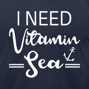 I Need Vitamin Sea - Men's T-Shirt by American Apparel