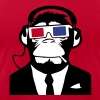 3D Ape Monkey Club Electro Motive Headphones  - Men's Fine Jersey T-Shirt