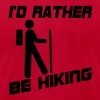 I'd Rather Be Hiking - Men's Fine Jersey T-Shirt