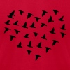 Heart Flock of Birds - Men's Fine Jersey T-Shirt