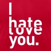 I hate love you couple relationship - Men's Fine Jersey T-Shirt