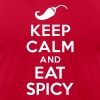 Keep calm and eat spicy - Men's Fine Jersey T-Shirt