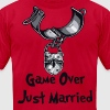 Game Over Just Married - Men's Fine Jersey T-Shirt