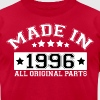 MADE IN 1996 ALL ORIGINAL PARTS - Men's Fine Jersey T-Shirt
