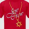 Long Gold Chain and Star of David - Men's Fine Jersey T-Shirt