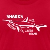 Sharks With Laser Beams - Men's Fine Jersey T-Shirt