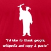 Internet Graduate Graduation thanks - Men's Fine Jersey T-Shirt