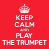 Keep calm and play the Trumpet - Men's Fine Jersey T-Shirt