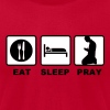 eat sleep pray - Men's Fine Jersey T-Shirt