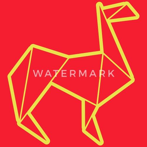 Origami Animals Llama By Vektorschmiede Spreadshirt