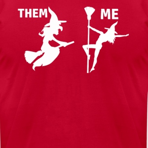 Halloween witch designs - Men's T-Shirt by American Apparel