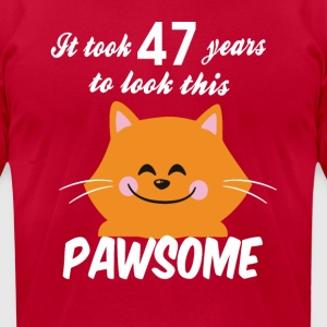 It took 47 years to look this pawsome - Men's T-Shirt by American Apparel