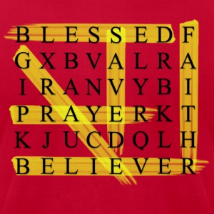 BLESSED N SAVED Crossword - Men's T-Shirt by American Apparel