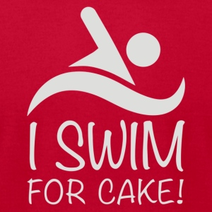 I Swim For Cake - Men's T-Shirt by American Apparel