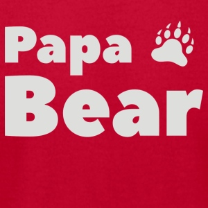 Funny Papa Bear Design - Men's T-Shirt by American Apparel
