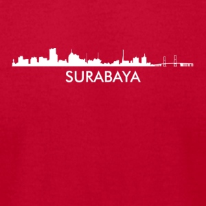 Surabaya Indonesia Skyline - Men's T-Shirt by American Apparel