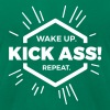 wake up kick ass repeat Statement fun motivation  - Men's Fine Jersey T-Shirt