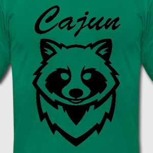 see throw cajun coon icon - Men's T-Shirt by American Apparel