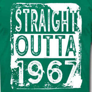 Funny 50th Birthday Gift: Straight Outta 1967 - Men's T-Shirt by American Apparel