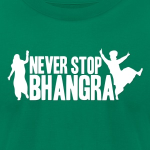 NEVER STOP BHANGRA LOGO (W) - Men's T-Shirt by American Apparel