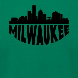 Milwaukee WI Cityscape Skyline - Men's T-Shirt by American Apparel