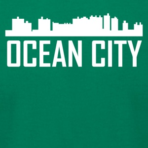 Ocean City Maryland City Skyline - Men's T-Shirt by American Apparel