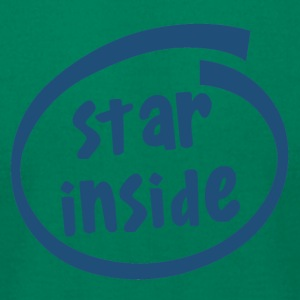 star inside (1801C) - Men's T-Shirt by American Apparel