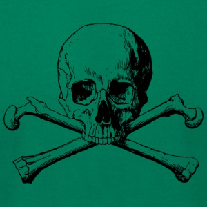 crossbones skull - Men's T-Shirt by American Apparel