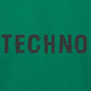 Techo Hacked Black - Men's T-Shirt by American Apparel