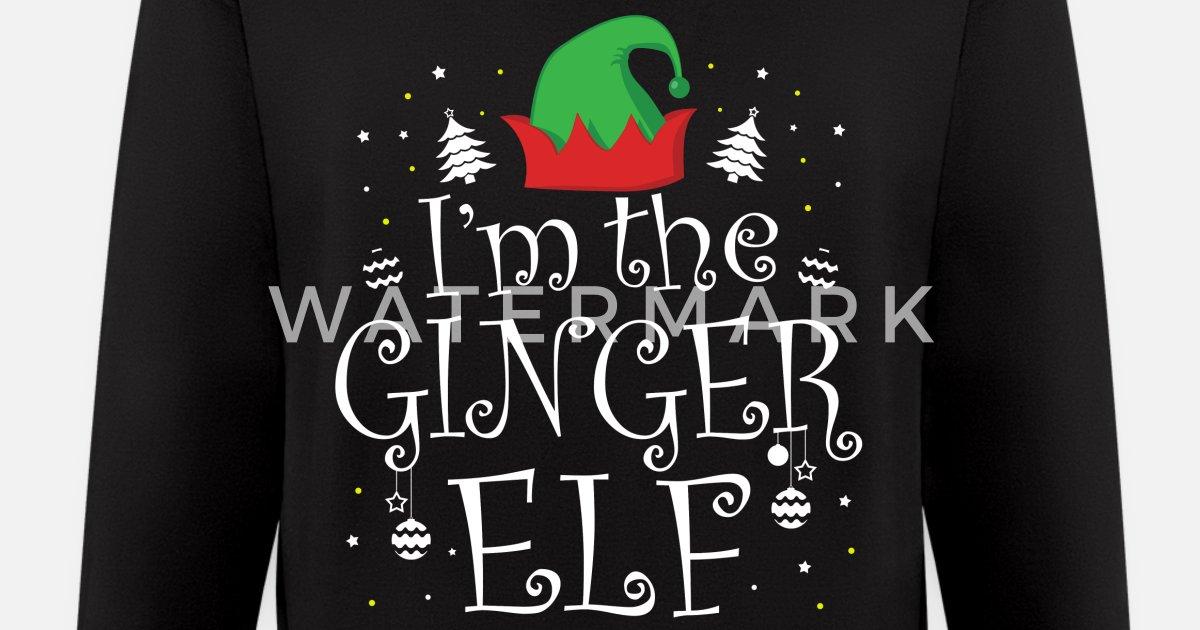 34a0dc5c54 I'm the Ginger Elf tshirt - Funny Christmas Shirts Men's Zip Hoodie ...