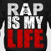 rap is my life - Men's Zip Hoodie