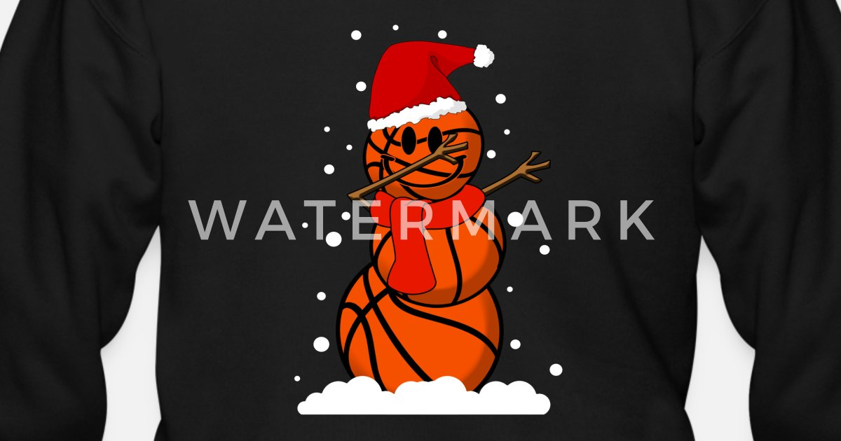 90fe09a05cba2 Dabbing Basketball Snowman - Christmas Santa Dab by mzngshirts ...