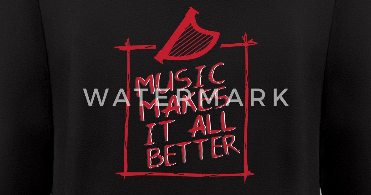 Harp music makes it all better frame Men's Zip Hoodie | Spreadshirt