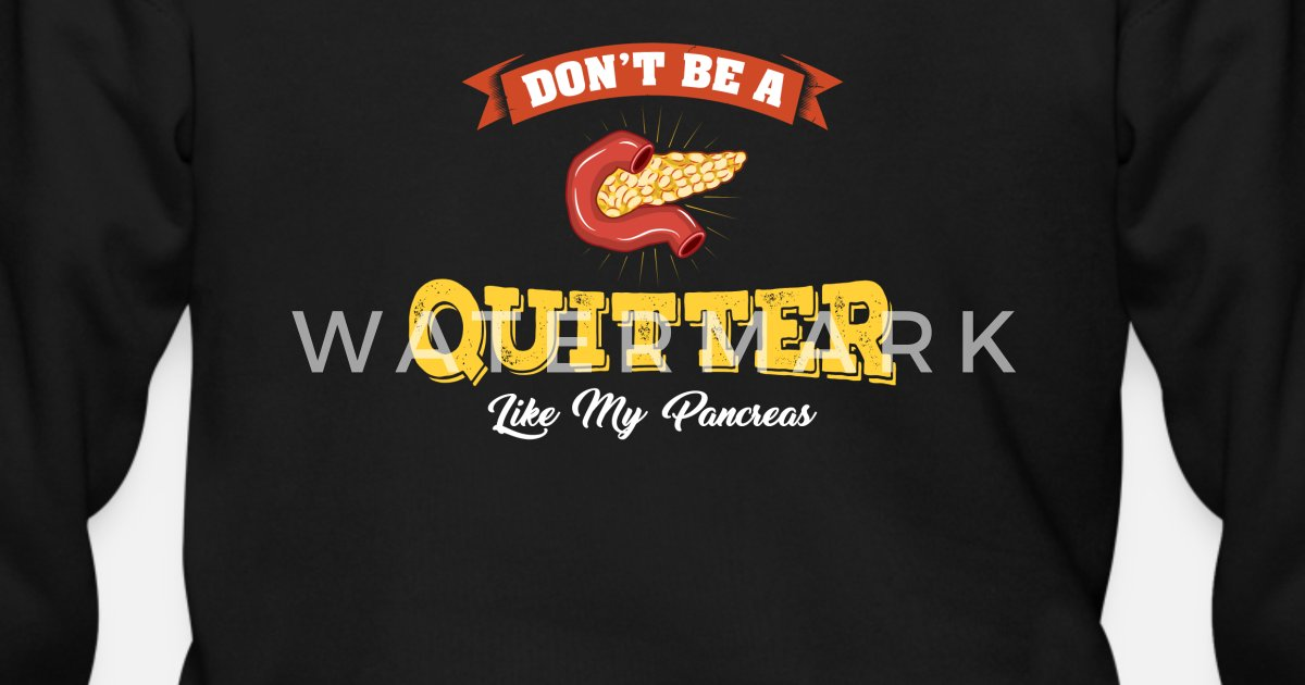 Mens Zip HoodieDont Be A Quitter Like My Pancreas Diabetic Gift