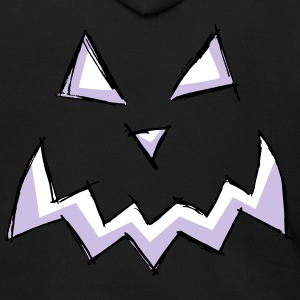 pumpkin creepy monster face halloween present cut - Men's Zip Hoodie