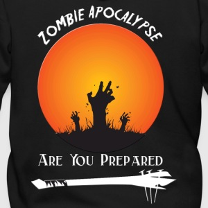 zombie Apocalypse Are You Prepared - Men's Zip Hoodie