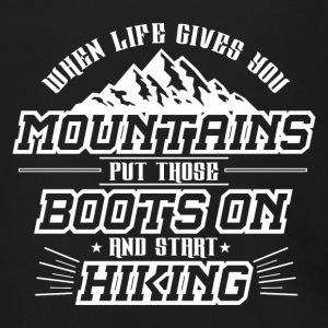 MOUNTAINS OUTDOOR: BOOTS ON AND START HIKING GIFT - Men's Zip Hoodie