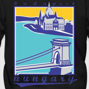 Budapest Chain Bridge, Hungary - Men's Zip Hoodie