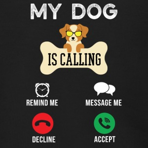 My dog is calling Remind me Message me - Men's Zip Hoodie