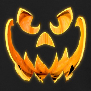 3D Glowing Scary Jack-o-Lantern Face - Men's Zip Hoodie