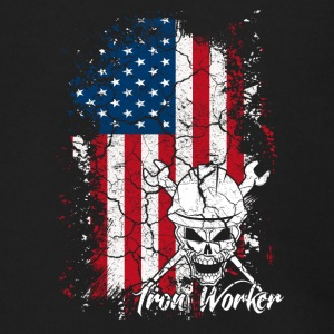 Iron Worker Flag Shirt - Men's Zip Hoodie