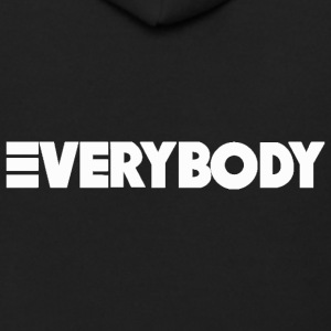 Everybody White - Men's Zip Hoodie