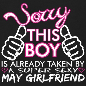 Sorry This Boys Already Taken By May Boyfriend - Men's Zip Hoodie