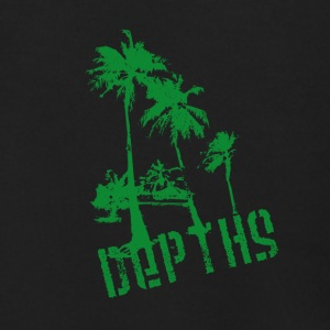 DEPTHS Palm trees - Men's Zip Hoodie