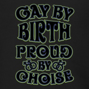 Gay t shirts Gay by birth proud by choice Gay by b - Men's Zip Hoodie