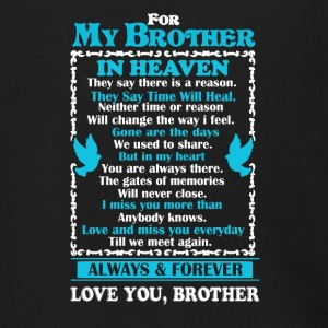 Brother In Heaven Shirt - Men's Zip Hoodie