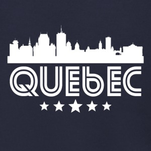 Retro Quebec Skyline - Men's Zip Hoodie