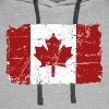 Canada Maple Leaf Flag - Vintage Look - Men's Premium Hoodie